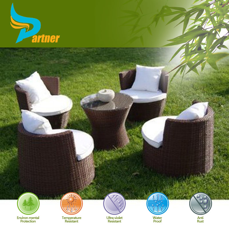 Outdoor Patio Garden Large Gazebo Rattan Right Corner Sofa