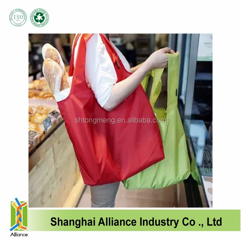 wholesale fashion folding shopping bag,polyester nylon shopping bags,fold up nylon bag