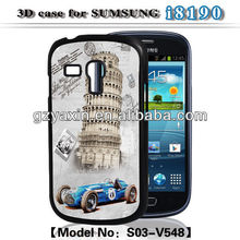 Shockproof case for samsung galaxy s3 mini,3d PC case for s3 mini