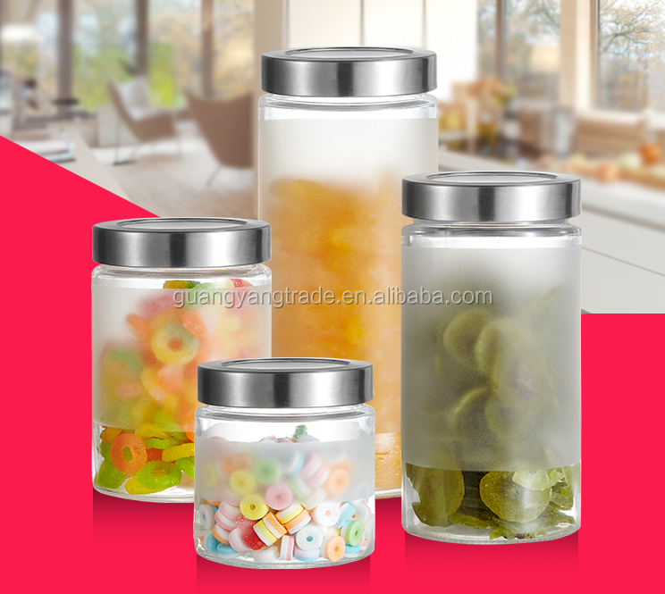 Storage Bottles & Jars Type and Eco-Friendly Feature glass jar