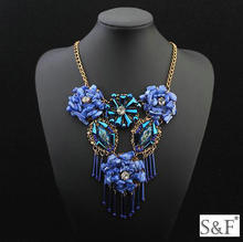 China supplier jewelry wholesale chunky handmade statement necklace 2016
