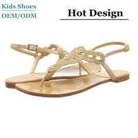 China Manufacturer 2014 New Design High Quality cutout nude beach fashion sandals for girls