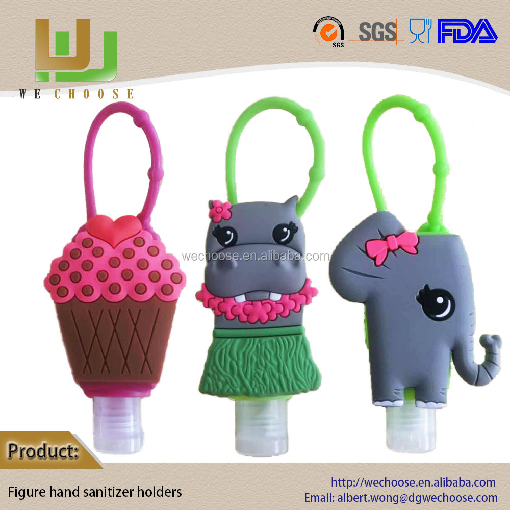 Summer date 3D silicone hand sanitizer holder