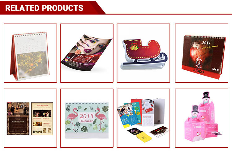 Best-selling newest customized design printing monthly calendar