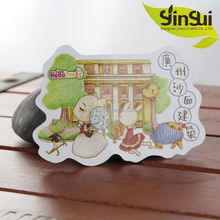 china wholesale high quality paper lamination decor fridge magnet