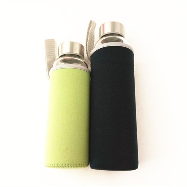 Bulk green and black neoprene bottle cooler sleeve for sale