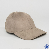 hats made in china curved front faux suede cap in grey
