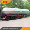 China 3 axles liquefied petroleum gas trailer manufacturer