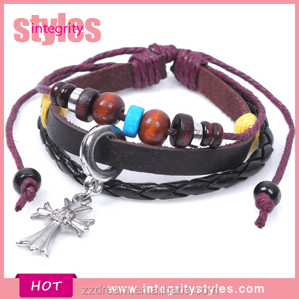 Wholesale Hot Selling Leather Crosses For To Make Bracelets