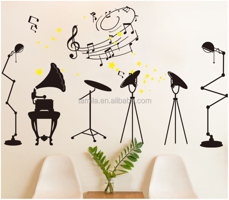 music band vinyl black wall decals art home decoration sticker