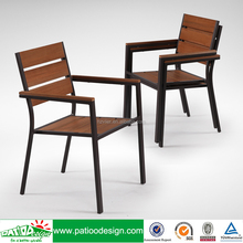 Aluminum plastic wood chair for hotel