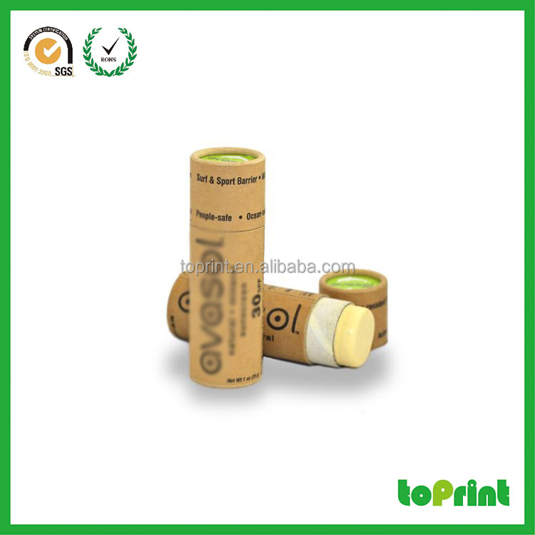 eco friendly push up 10mm paperboard thickness deodorant paper tube packaging