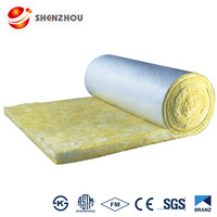 32kg / m3 waterproofing glass wool felt glass wool insulation blanket
