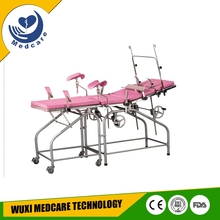MTDR3 manual stainless steel delivery table bed