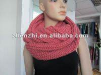 Fashion knitted scarf and snood hat gloves set