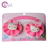 Hot sell lovely hello kitty pink ribbon bow for kids