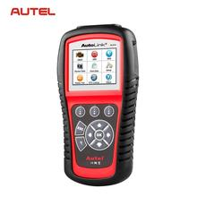 Original Autel AutoLink AL619 Auto Fault Code Reader Scanner SRS CAN ABS Airbag Automotive Diagnostic OBDII CAN ABS And SRS