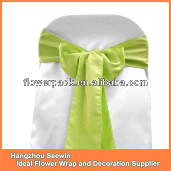 High Quality Satin Sash For Wedding Party/chair Bow/fancy Wedding Chair Cover Sash