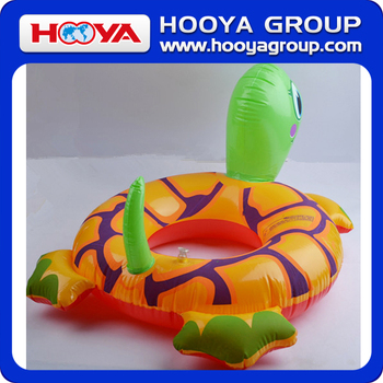 TY97556 Lovely thick popular turtle design inflatable adult swim ring