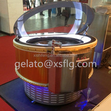 xsflg Ice Cream Round Rotation Showcase Cabinet Customized