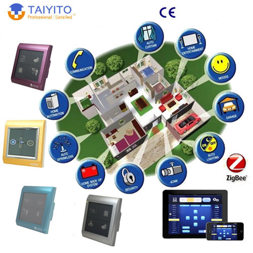 intelligent wifi plcbus TYT Zigbee home automation light switches of remote control domotic zigbee home automation system