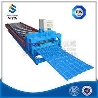 tile making machine with price , high quality roof glazed tile forming machinery