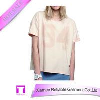 Women fashion short-sleeve Cotton t shirt apparel supplier