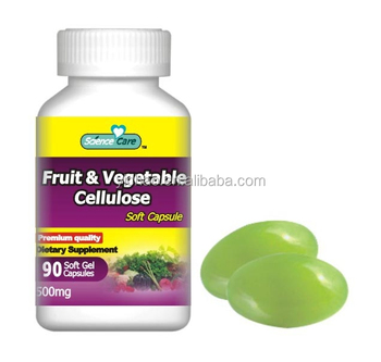 Fruit Vegetable Cellulose daily supplement dietary soft capsule 500mg