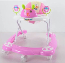 new model european simple and big round baby walker with safety belt