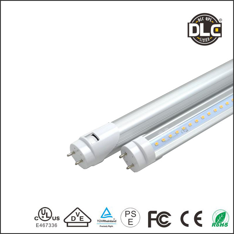 Home tubes UL CUL DLC certified G13 base smd2835T8 led tube 1200MM plug and play led tube 18w