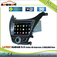 8 inch Capacitive Touch Motorized Screen HIFIMAX Android 4.4 car dvd player 2din car navigation for HYUNDAI ELANTRA -2012