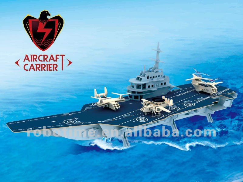 Robotime 2014 first class/high grade/gift- Aircraft carrier set Made in China
