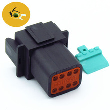 Deutsch DT series 1.6mm pitch plug 8 position male waterproof automotive socket/electric HSG connector DT06-8P