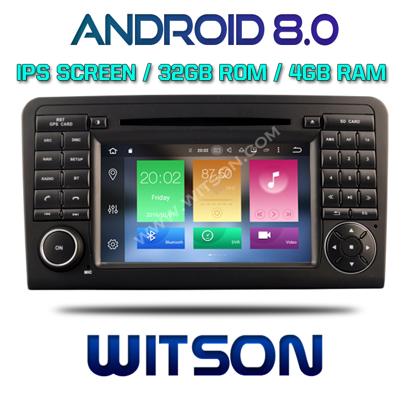 WITSON ANDROID 8.0 CAR <strong>DVD</strong> GPS NAVIGATION FOR MERCEDES BENZ ML 320 ML 350 <strong>W164</strong> GL X164 GL320 GL420 GL450 GL500