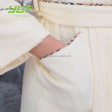 High quality comfortable classic bathrobe for man and women customized bamboo fiber hotel bathrobe