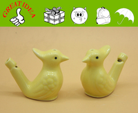 Yellow Porcelain peafowl watering whistle for souvenir, ceramic whistle, bird whistle for stall sales. Best gift Street vendor