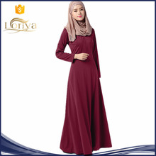 Manufacture Muslim Women Abaya Islamic slim long sleeve maxi dress Fashion casual Kaftan Malaysia