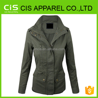 Womens Military Anorak Safari Jacket with Pockets