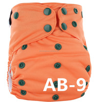 AB-09 YiWu ChangHe 100% Polyester+TPU Waterproof Reusable Baby Night AIO Diapers