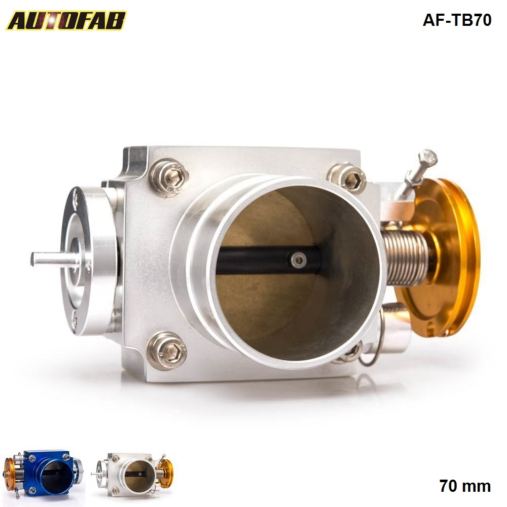 AUTOFAB -70MM Throttle Body Performance <strong>Intake</strong> Manifold Billet Aluminum High Flow TK-TB70