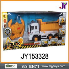 Yellow radio control rc dump truck toy military pulling truck for sale