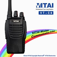 VITAI VT-C6 UHF 440-480MHz LED Flashlight Function 5W 16Channels FM PC programming Handy Walkie Talkie