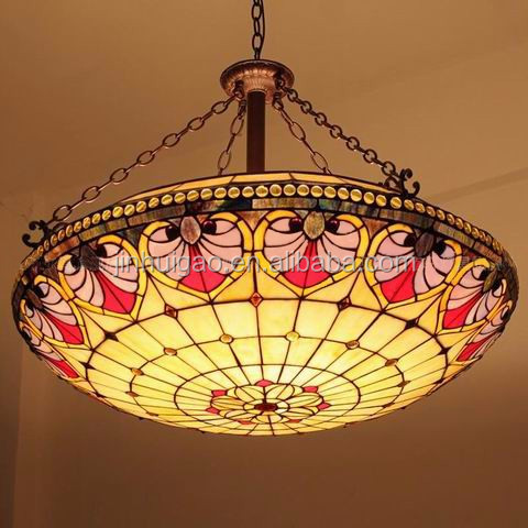 Wholesale tiffany style stained glass chandelier wall lamp for ceiling