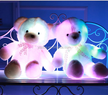 free sample electronic light up teddy bear plush toy Colorful Electronic Light Up Teddy Bear Led Light Teddy Bear Toy