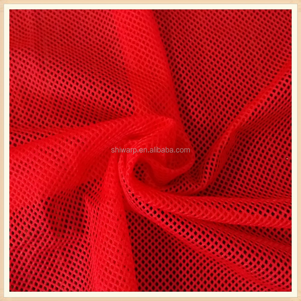 k high quality clothing materials 100% polyester mesh fabric textile products