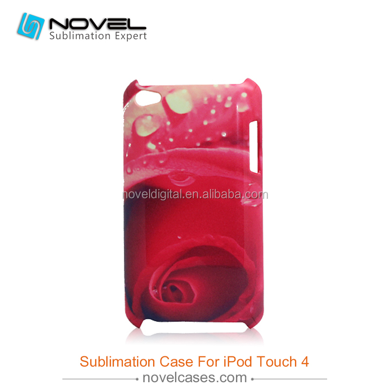 Blank 3D sublimation phone cover case for ipod touch 4 ,personalized case