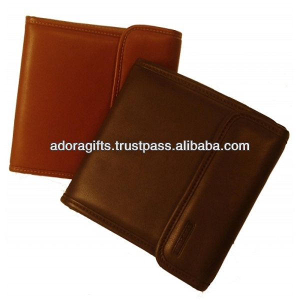 high quality cd dvd case holder / thick leather dvd case / promotional leather 5mm dvd case with press button lock