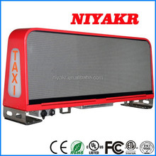 niyakr hot sale outdoor 3g/wifi wireless bus roof led taxi top advertising sign