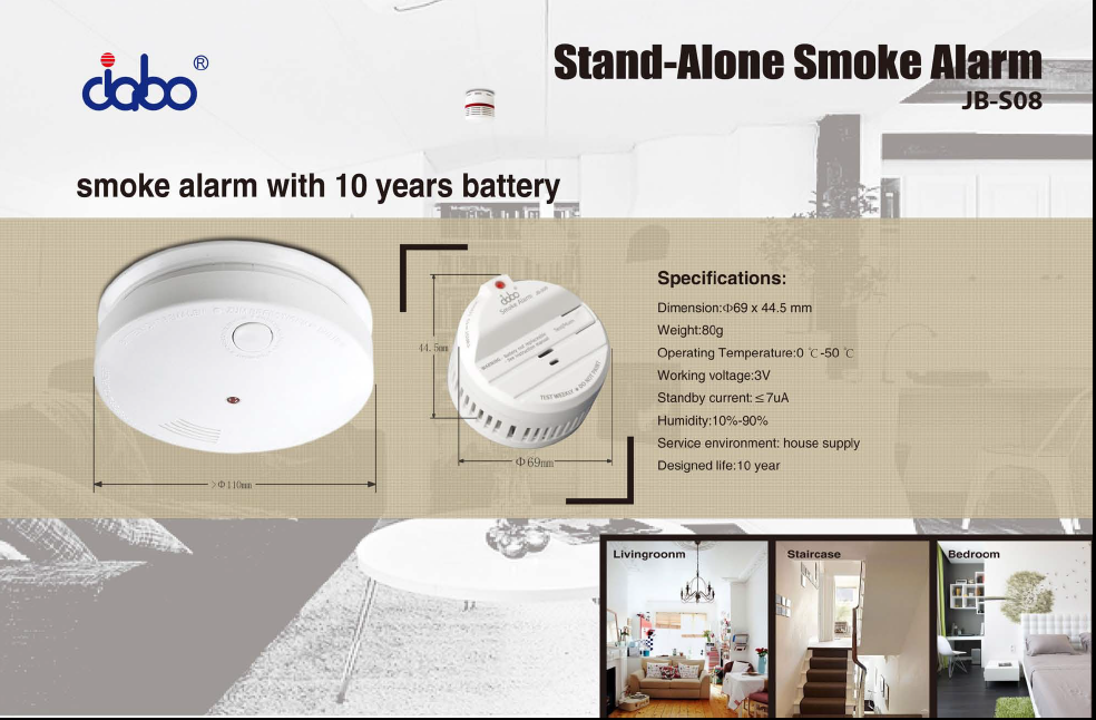 VDS approved mini smoke detector varta battery