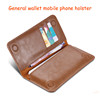 Luxury Vintage Wallet Purse Flip Case for iphone 4 4S 4G i4 Retro Plain Leather Women Men Girl Cover Folder Card Custom Black